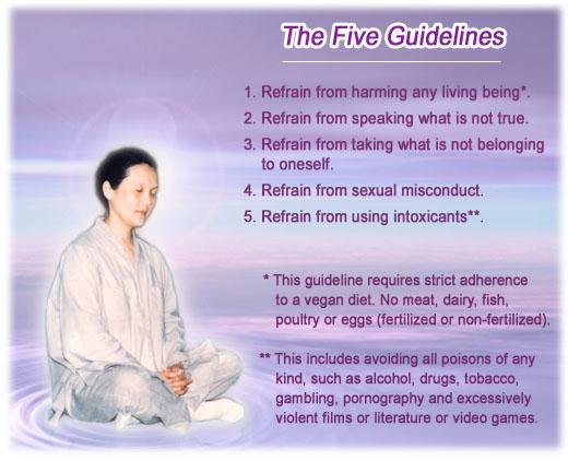 Godsdirectcontact > Quan Yin Method > The Five Precepts